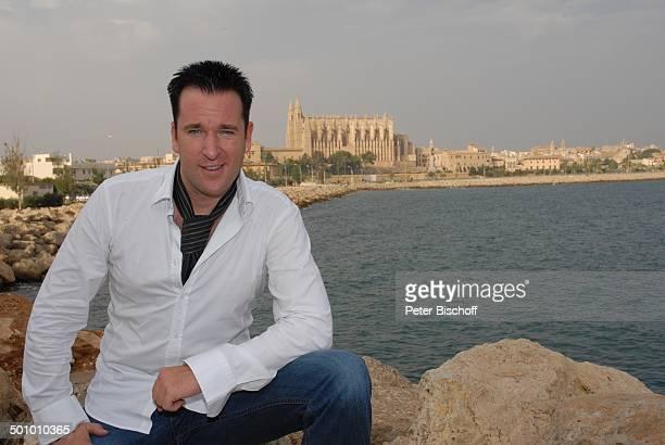 Michael Wendler Palma de Mallorca Insel Mallorca Balearen Spanien Europa Kathedrale Kirche Meer Urlaub Schlager Sänger Schlagersänger Promi BB CD PNr...