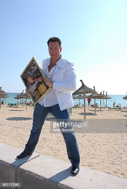 Michael Wendler PK zum Album Respekt Strand Playa de Palma El Arenal Insel Mallorca Balearen Spanien Europa Urlaub Meer Ozean jubeln SchlagerSänger...