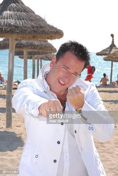 Michael Wendler PK zum Album Respekt Strand Playa de Palma El Arenal Insel Mallorca Balearen Spanien Europa Urlaub Meer Ozean SchlagerSänger Faust...