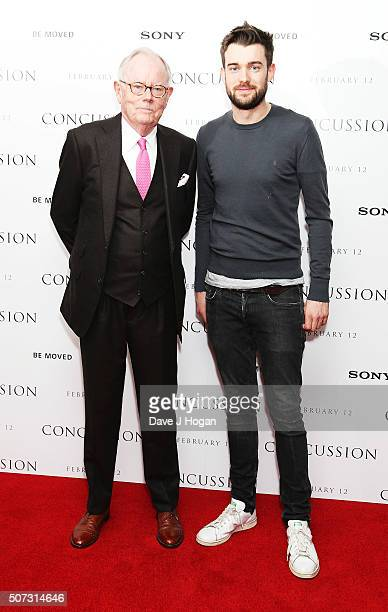Michael Whitehall and Jack Whitehall attend a special screening of Concussion at Ham Yard Hotel on January 28 2016 in London England