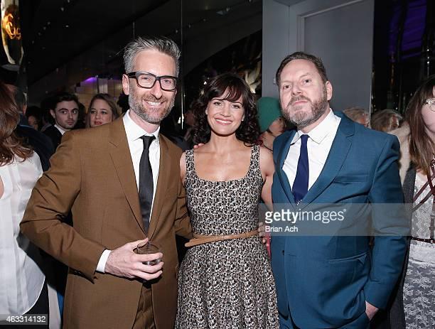 Michael Wilkinson Carla Gugino and Tim Martin attend Prada The Iconoclasts New York 2015 on February 12 2015 in New York City