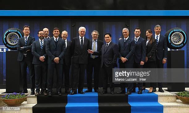 Michael Williamson, Giorgio Brambilla, Javier Zanetti, Giovanni Gardini, Marco Tronchetti Provera, Massimo Moratti, Erick Thohir, Michael...