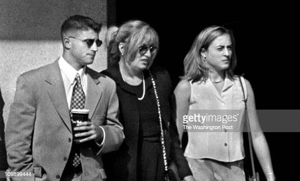 Michael Williamson/TWP US District Court Linda Tripp at Courthouse Linda Tripp arrives at the Courthouse today flanked by her children Ryan and...