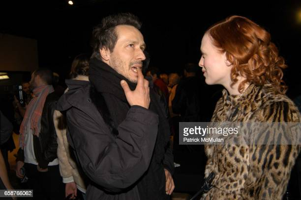 Michael Wincott and Karen Elson attend Marc Jacobs Fall 2004 Collection Show at The New York State Armory on February 9 2004 in New York City