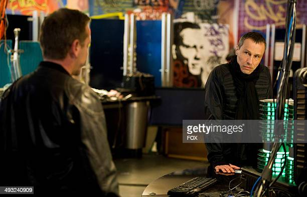 Michael Wincott and Kiefer Sutherland in the '100 PM 200 PM' episode of 24 LIVE ANOTHER DAY airing Monday May 12 2014 on FOX