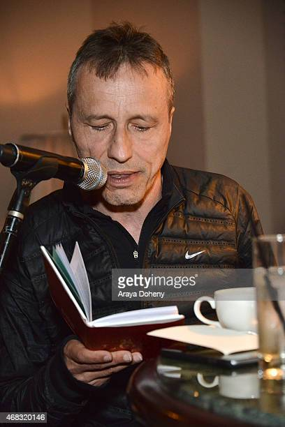 Michael Wincott attends a private cocktail party to celebrate the launch of With Love A Collection of Contemporary British Love Poetry at Chateau...