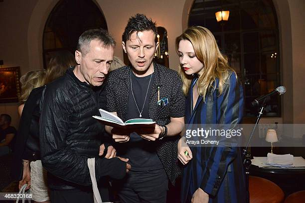 Michael Wincott Robert Montgomery and Greta Bellamacina attend a private cocktail party to celebrate the launch of With Love A Collection of...