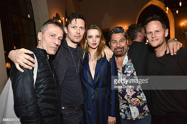 Michael Wincott Robert Montgomery Greta Bellamacina and Luis Barajas attend a private cocktail party to celebrate the launch of With Love A...
