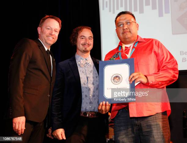 Michael Winger Camilo Landau and Marlon Deschamps attend the SF Chapter GRAMMY Nominee Celebration on January 22 2019 in San Francisco California