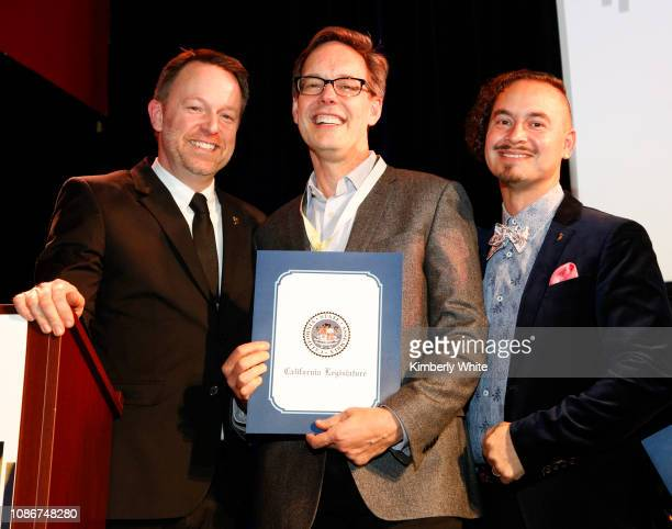 Michael Winger Jake Heggie and Camilo Landau attend the SF Chapter GRAMMY Nominee Celebration on January 22 2019 in San Francisco California