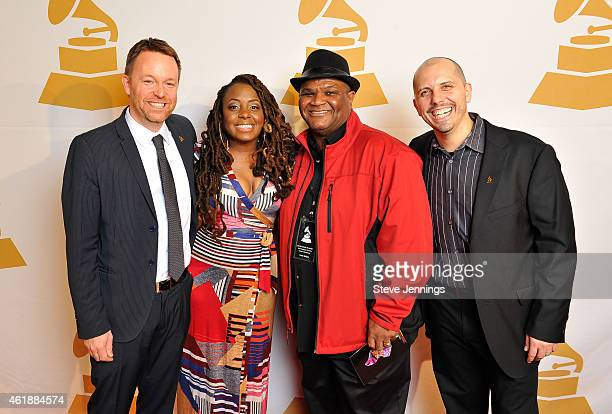 Michael Winger Ledisi Larry Batiste and Michael Starita attend the Recording Academy San Francisco Chapter GRAMMY Nominee Celebration at The Lodge at...