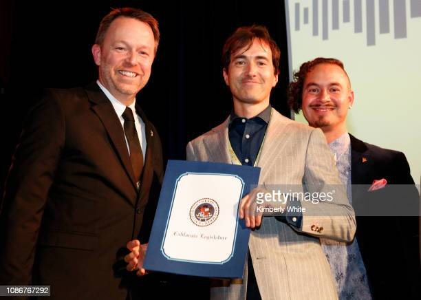Michael Winger Mason Bates and Camilo Landau attend the SF Chapter GRAMMY Nominee Celebration on January 22 2019 in San Francisco California