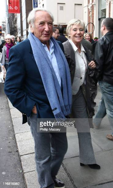 Michael Winner and fiance arrive at their hotel on February 15 2008 in Dublin Ireland
