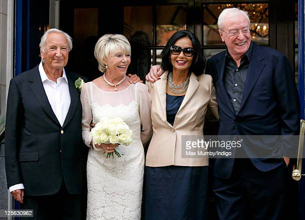 Michael Winner and Geraldine LyntonEdwards accompanied by Shakira Caine and Michael Caine leave Chelsea Register Office following their wedding on...