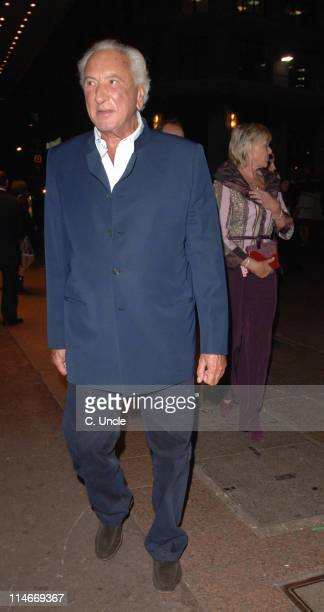 Michael Winner during The Prestige London Premiere Departures at Odeon West End in London Great Britain