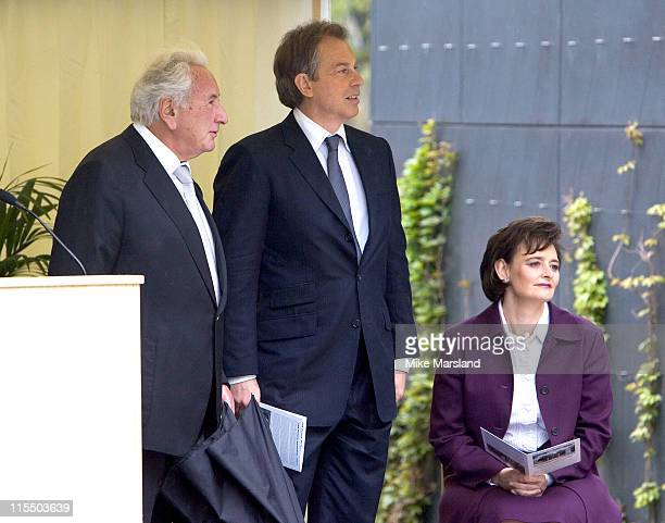 Michael Winner Tony Blair and Cherie Blair attend the unveiling of the national police memorial designed by Sir Norman Foster Building work began on...