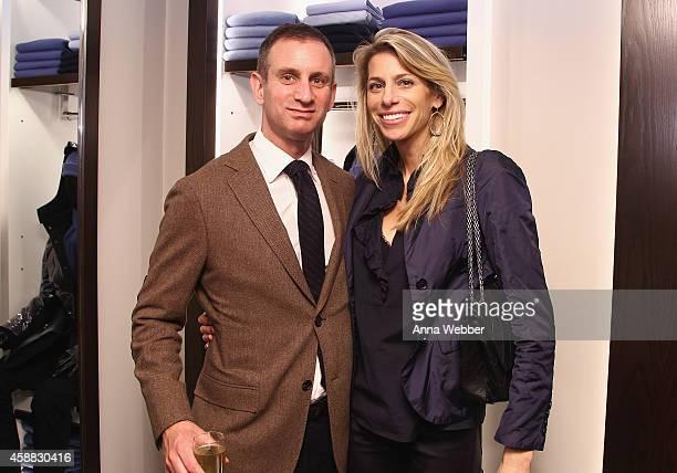 Michael Winston and Sarah Gargano attend DuJour magazine's premier opening event Tincati Milano Concept Store on November 11 2014 in New York City
