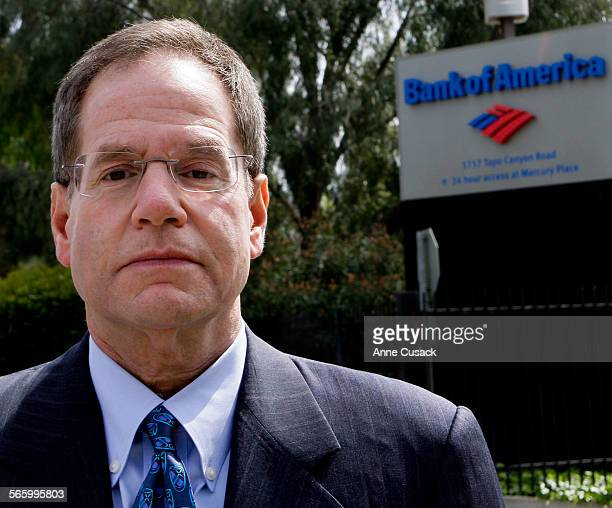 Michael Winston poses for a portrait outside the Bank of America Home Loan administrative building which was once Countrywide in Simi Valley on March...