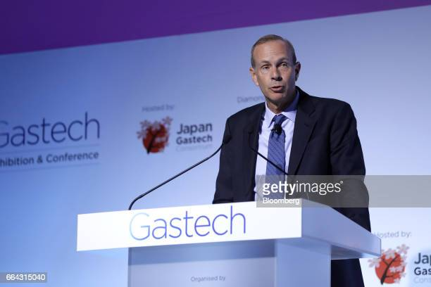 Michael Wirth vice chairman of Chevron Corp speaks during a panel discussion at the Gastech Exhibition Conference in Chiba Japan on Tuesday April 4...