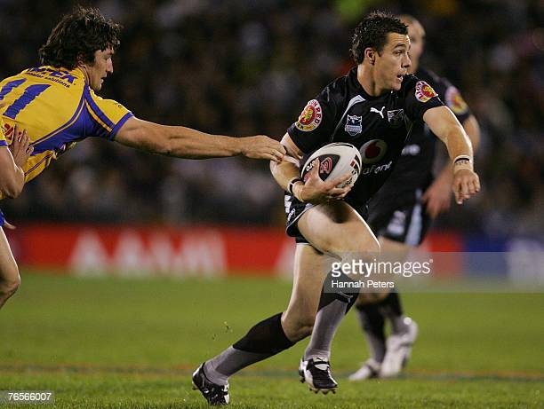 Michael Witt of the Warriors in action during the NRL qualifying final match between the Warriors and the Parramatta Eels at Mount Smart Stadium...