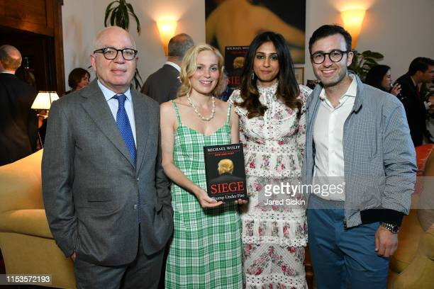 Michael Wolff Victoria Wolff Mahren Malik and Eric Kuhn attend Michael Wolff Siege Book Launch at a Private Residence on June 03 2019 in New York City