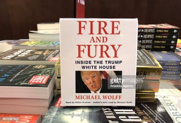 Michael Wolff's book Fire and Fury's audiobook cd version is seen at a bookstore in Washington United States on January 6 2018