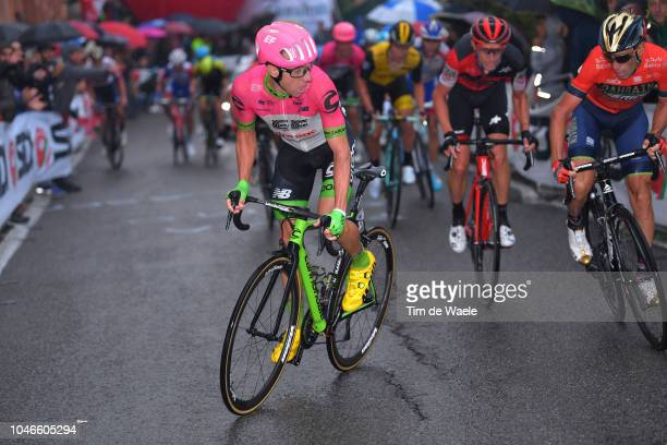 Michael Woods of Canada and Team EF Education First Drapac P/B Cannondale / Vincenzo Nibali of Italy and Bahrain Merida Pro Cycling Team / during the...