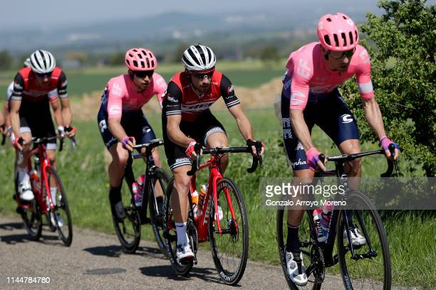 Michael Woods of Canada and Team EF Education First / Nicola Conci of Italy and Team Trek-Segafredo / Sean Bennett of The United States and Team EF...