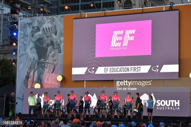Michael Woods of Canada and Team EF Education First Pro Cycling / Mitchell Docker of Australia and Team EF Education First Pro Cycling / Daniel McLay...