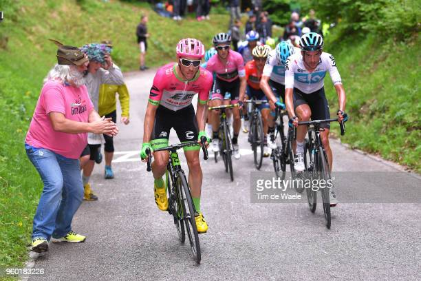 Michael Woods of Canada and Team EF Education FirstDrapac p/b Cannondale / Wout Poels of The Netherlands and Team Sky / during the 101st Tour of...