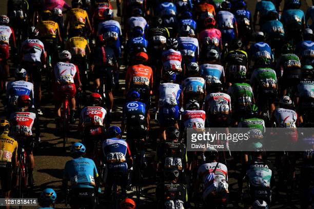 Michael Woods of Canada and Team EF Pro Cycling / Jannik Steimle of Germany and Team Deceuninck QuickStep / Davide Formolo of Italy and UAE Team...