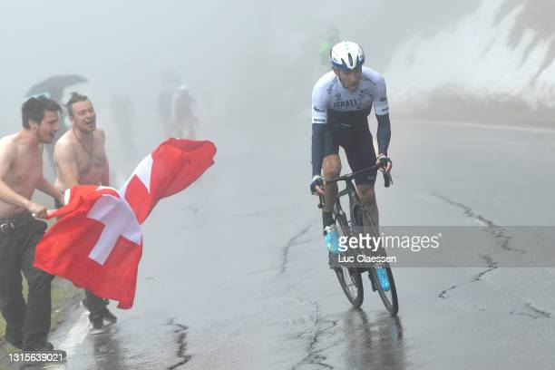 Michael Woods of Canada and Team Israel Start-Up Nation attacks at Thyon during the 74th Tour De Romandie 2021, Stage 4 a 161,3km stage from Sion to...