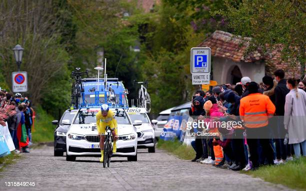 Michael Woods of Canada and Team Israel Start-Up Team Yellow Leader Jersey during the 74th Tour De Romandie 2021, Stage 5 a 16,19km Individual Time...