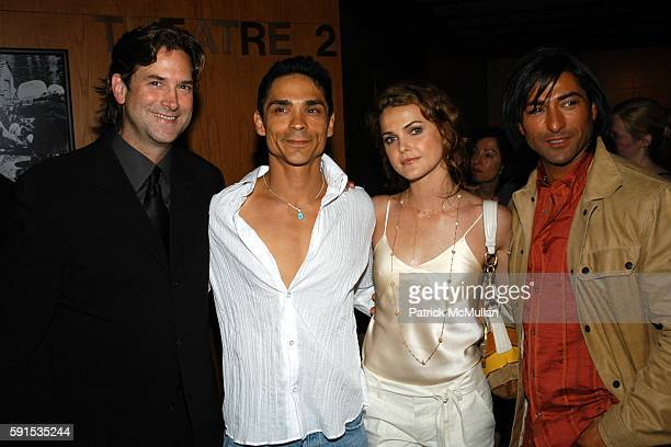 Michael Wright Zahn McClarnon Keri Russell and Jay Tavare attend INTO THE WEST Premiere at Directors Guild Theater on June 8 2005