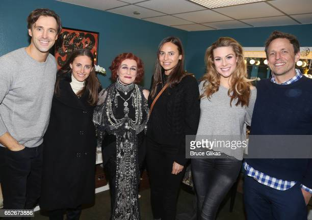 Michael Xavier Alexi Ashe Meyers Glenn Close as Norma Desmond Ariel Ashe Siobhan Dillon and Seth Meyers pose backstage at the hit musical Sunset...