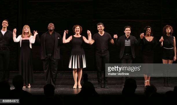 Michael Xavier Emily Skinner Chuck Cooper Karen Ziemba Tony Yazbeck Brandon Uranowitz Bryonha Marie Parham and Janet Dacal during the Broadway...