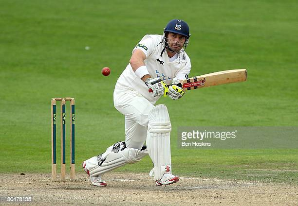 Michael Yardy of Sussex in acion during day three of the LV County Championship match between Sussex and Yorkshire at BrightonandHoveJobscom County...