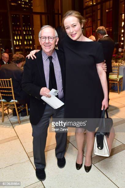 Michael Yeargen and Jennifer Ehle attend It's About Time to Celebrate Andre Bishop's 25 Years at Lincoln Center Theater at David Geffen Hall on April...