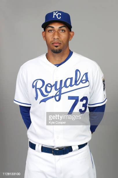 Michael Ynoa of the Kansas City Royals poses during Photo Day on Thursday February 21 2019 at Surprise Stadium in Surprise Arizona