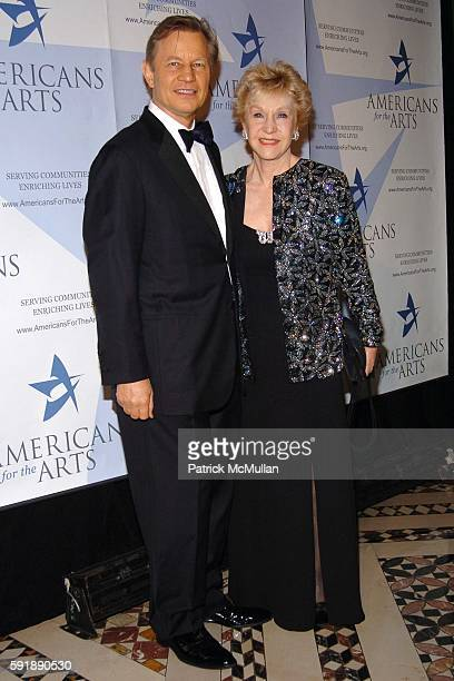 Michael York and Pat York attend The Americans for The Arts National Arts Awards at Cipriani 42nd Street on October 11 2005 in New York City