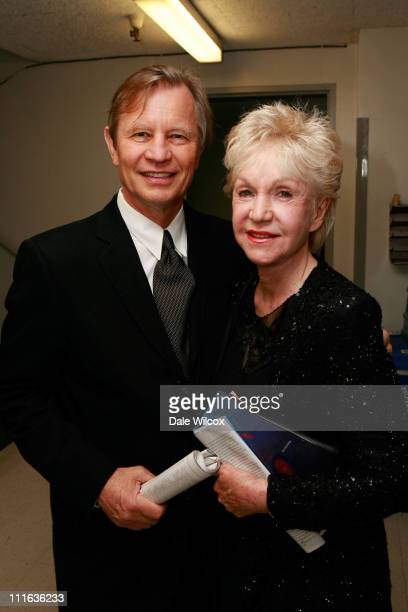 Michael York and Pat York backstage at the Opening Night Performance of Jenufa for the Los Angeles Opera on September 27 2007