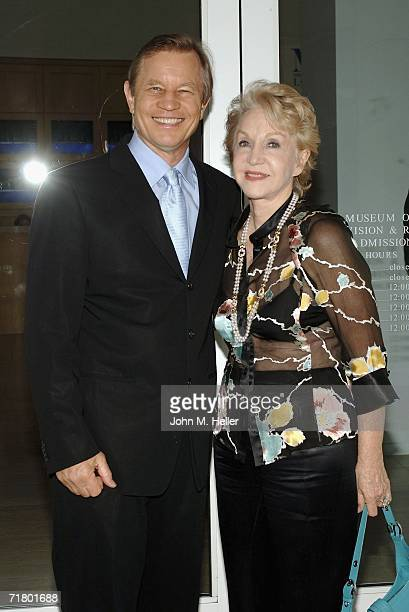 Michael York and Patricia McCallum attend an Evening With Ted Koppel hosted by The Museum Of Television And Radio on September 6 2006 in Beverly...