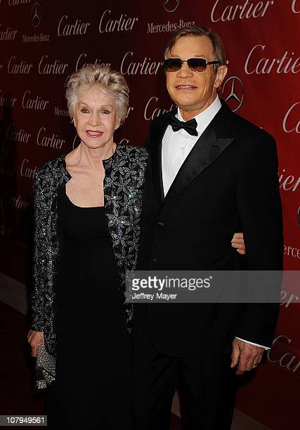 Michael York and Patricia McCallum attends the 22nd Annual Palm Springs International Film Festival Awards Gala at Palm Springs Convention Center on...