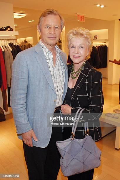 Michael York and Patricia York attend OSCAR DE LA RENTA RECEPTION WITH BOAZ MAZOR at Oscar de la Renta Boutique on October 29 2008