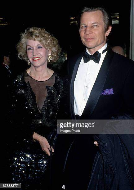 Michael York and wife Patricia McCallum attend the 1992 Metropolitan Museum of Art's Costume Institute Gala circa 1992 in New York City.