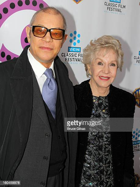 Michael York and wife Patricia McCallum pose at The 40th Anniversary screening of Cabaret at The Ziegfeld Theater on January 31 2013 in New York City