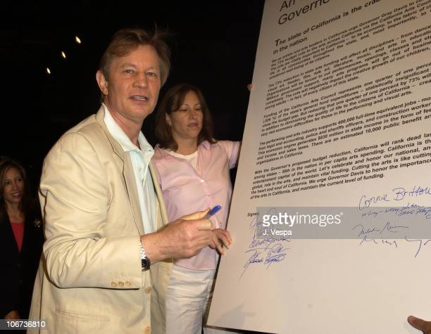 Michael York during Actor Tim Robbins,Gil Cates and Arts/Community Leaders Urge Governor and Legislators Against Slashing Statewide Arts Programs in...