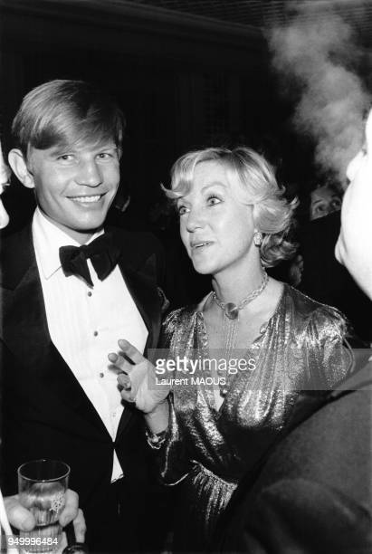 Michael York et sa femme Pat York au Festival du film américain de Deauville le 4 septembre 1977 à Deauville France
