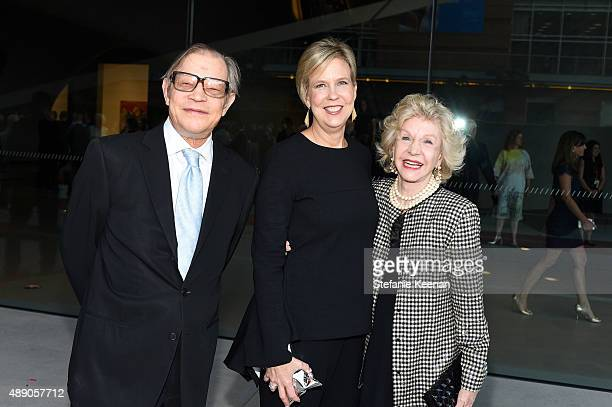 Michael York Joanne Heyler and Pat York attend The Broad Museum Opening Celebration at The Broad on September 18 2015 in Los Angeles California