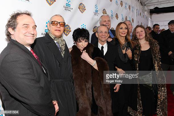Michael York Liza Minnelli Joel Grey Robvert Osborne Marisa Berenson and Nicole Fosse attend the Cabaret 40th Anniversary New York Screening at...